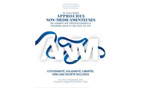 logo bleu et blanc du colloque anm 2019